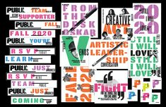 Paula Scher's 2020-21 Public Theater identity reflects the times