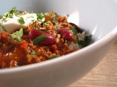 A Healthy, low sodium, Chili con Carne with just the right amount of chilies. (in Dutch with translator)