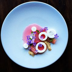 winter rhubarb by chef martyn meid