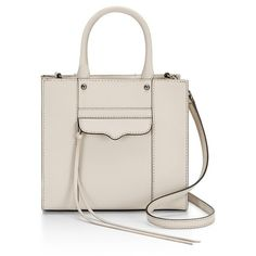 Rebecca Minkoff M.A.B. Tote Mini Putty ($98) ❤ liked on Polyvore featuring bags, handbags, tote bags, putty, totes, pink handbags, saffiano leather tote, pink tote, structured handbags and pink tote purse