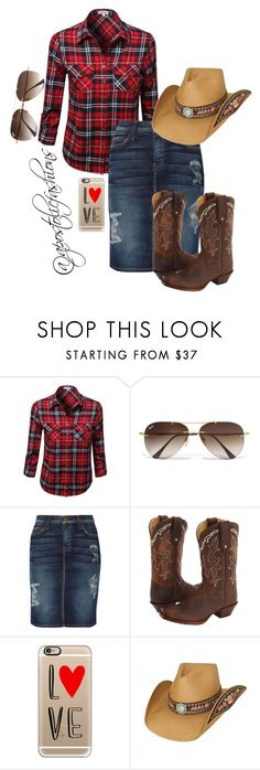 """""""Apostolic Fashions #1104"""" by apostolicfashions on Polyvore featuring Ray-Ban, Current/Elliott, Tony Lama, Casetify, women's clothing, women, female, woman, misses and juniors"""