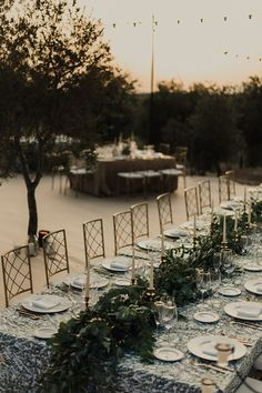 """Magical Summer Night in an Olive Field"": A Beautiful Spanish Wedding Rustic Color Palettes, Rustic Colors, Bridal Party Tables, Wedding Reception Decorations, Al Fresco Dinner, Outdoor Wedding Inspiration, Wedding Ideas, Red Bridesmaids, Spanish Wedding"