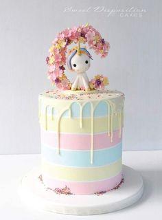 60 Simple Unicorn Cake Design Ideas Simple Unicorn Cake Design Ideas Inspired Photo of One Tier Birthday Cake Designs . Baby Cakes, Beautiful Cakes, Amazing Cakes, Unicorn Cake Design, Unicorn Cakes, Unicorn Cake Topper, Mini Cakes, Cupcake Cakes, Drip Cakes