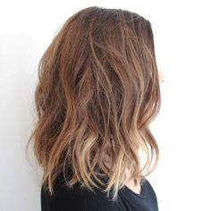 """TEXTURED LOB  Haircut/Style/Photo by ME Balayage by @nidiaalire  #fall #fashion #texturedlob #effortlesshair #messyhair #trend #randcohair…"""