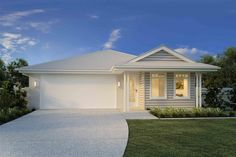 South Australia Home Design - GJ Gardner make building your new home stress free. House Paint Exterior, Exterior House Colors, Interior Exterior, Die Hamptons, Hamptons Style Homes, Modern Farmhouse Exterior, Custom Home Designs, Display Homes, Facade House