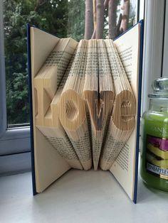 Wedding Decoration Book Folding Love Valentines Crafts Handmade Papercraft Book Origami Upcycling