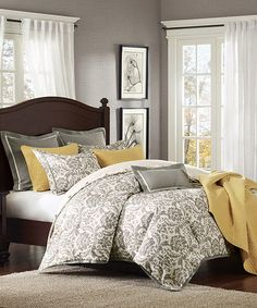 This Sam Linen-Blend Comforter Set is perfect! #zulilyfinds.  Possible colors for the master bedroom?