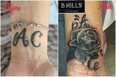 #CoverUp #Tattoo #letteringtattoo #lettering #rose #Black #shadeofblack #calligraphy #tattooartist