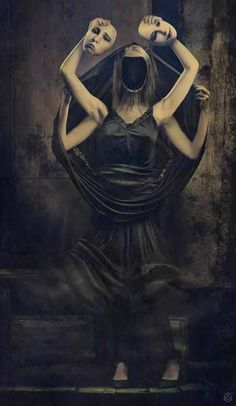 Most women you will encounter posses two personalities. The one she chooses to show you, and the one she occults from you. Usually the occulted one will be her true form, making the one you know another face that she fabricates, just to match the fake one that you have on.