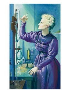 Madame Curie Giclee Print by Mcbride Art com is part of Illustration art Madame Curie Giclee Print by Mcbride Find art you love and shop highquality art prints, photographs, framed artworks and p - Marie Curie, Chemistry Art, Line Sketch, Desenho Tattoo, Soul Art, Historical Pictures, Science Art, Find Art, Illustrators