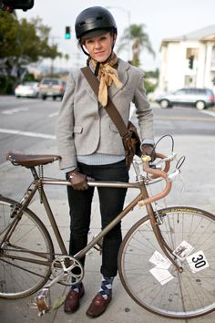 Fall cycle fashion - Perhaps with the Rizzo glasses so that you can see the traffic.