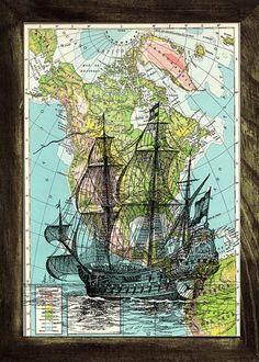 North America Galleon Map