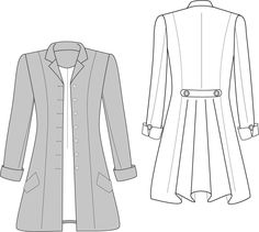 Sewing Pattern available soon - Welt Pocket and Rever Collar tutorials coming first - Join for all my sewing patterns during lockdown for just Sewing Patterns Free, Free Sewing, Frock Coat, Make Your Own Clothes, Sewing Lessons, Pattern Cutting, First They Came, Learn To Sew, Welt Pocket