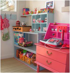 """DIY Play Kitchen/Store Counter. My kids love to play """"store"""" right now. Very cute!"""