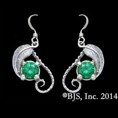 The Hobbit / Lord of the Rings Official MIRKWOOD-EARRINGS Elven Lorien Leaf & Emeralds of Girion Jewelry