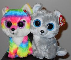 "Ty Beanie Boos ~ RIVER & WARRIOR 6"" ~ Great Wolf Lodge Exclusives ~ MWMT'S ~ NEW"