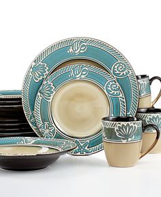 Pfaltzgraff Everyday Montego 16-Pc. Set, Service for 4 - Dinnerware - Dining & Entertaining - Macy's