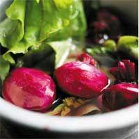 Grønne bønner og rødbeder med blød gedeost