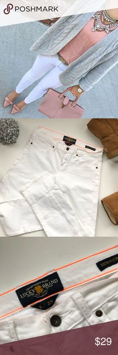 "{lucky brand } sienna tomboy crop ▪️inseam : 29""  ▪️waist : 16"" ▪️condition: like new Lucky Brand Jeans Ankle & Cropped"
