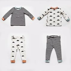 All the details of this year's Christmas gifts including this little mix and match pyjama set for my twin nieces in monochrome jersey from Gold Stars, Pyjamas, Pajama Set, Little Ones, Monochrome, To My Daughter, Christmas Gifts, Couture, Stitch