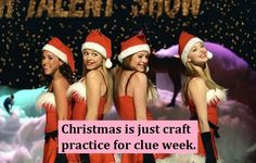 Christmas is just craft practice for clue week. #Greek #Sorority #MeanGirls #Christmas #Crafting