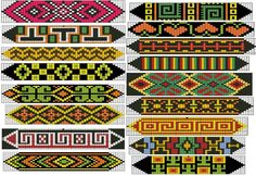 Native Beading Patterns of Hor Native Beading Patterns, Seed Bead Patterns, Peyote Patterns, Weaving Patterns, Jewelry Patterns, Loom Bracelet Patterns, Bead Loom Bracelets, Embroidery Bracelets, Loom Bands