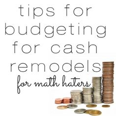 Tips for staying on budget for remodeling projects Budgeting, #Budget, Budget Tips