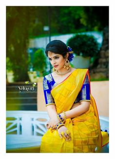 We have come up with 30 new Pattu saree blouse designs that will revamp your look. These Pattu saree blouse designs have a perfect fit and are Pattu Saree Blouse Designs, Saree Dress, Sari Blouse, Blouse Neck, Blue Blouse, Wedding Silk Saree, Yellow Saree, Simple Sarees, Blouse Models