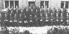 An early photo of the Eastbourne Borough Police. Chief Constable Harry Plumb is seated in the centre of the front row - he resigned due to ill health in June 1900.