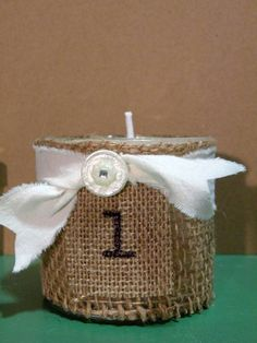 French Country Style Burlap Wrapped Soy Candle    by aunaturelle, $18.00