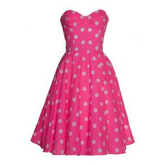 Style Icon's Closet 50s style Vintage Inspired Pin-Up African Print Retro Rockabilly Clothing Pink Polka Dot 50s Inspired Swing Dress