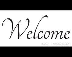 Word Stencil Welcome Graceful 16 x 8 by StudioR12 por StudioR12
