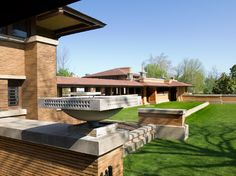 The Martin House in Buffalo NY. Designed by Frank Lloyd Wright in 1904 it was the largest residential complex of his career