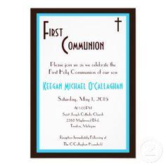 Boy 1st Communion Invitation