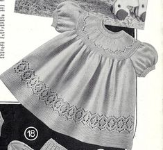 Greenock 157 dress and matinee coats baby vintage knitting pattern Listing in the Baby & Children,Patterns,Knitting & Crochet,Crafts, Handmade & Sewing Category on eBid United KingdomOnline Marketplace at eBid United Kingdom : Free to Bid Baby Boy Knitting Patterns, Baby Sweater Knitting Pattern, Baby Girl Patterns, Easy Crochet Hat, Crochet Baby, Knit Baby Dress, Dress Up Outfits, Vintage Knitting, Baby Sweaters