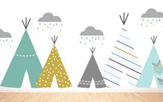 Tee Pee Village- boys-  LARGE WALL DECAL