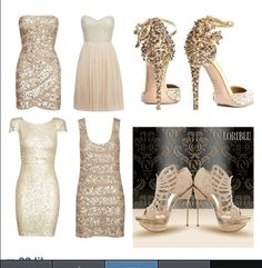 Wedding rehearsal or engagement party dress and shoe options