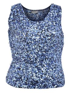 Sequin embellished formal top in Blue / Glossy designed by Weise  to find in Category Tops at navabi.de