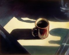 Edward Hopper - Coffee/still life David Hockney, American Realism, American Artists, Edward Hopper Paintings, Art Plastique, Light And Shadow, Les Oeuvres, Art History, Still Life