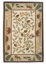 Rustic Rugs With Pine Cone Moose Bear Images