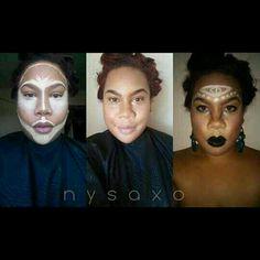 #contour #teneille #polynesian #mua #makeup #pictorial #makeupaddict #sephora #maccosmetics #clowncontour