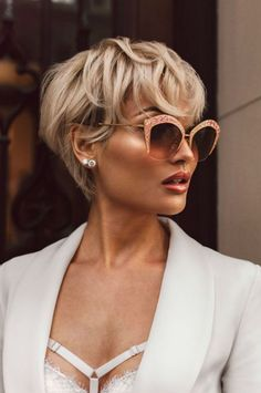 20 Popular Short Blonde Hair 2018 , Who does not like blonde hair if it is even short? Here are 20 Popular Short Blonde Hair Blonde hair is still one of top hairstyles that ladies . Long Pixie Hairstyles, Short Hairstyles For Women, Hairstyle Short, Hairstyles Haircuts, Medium Hairstyles, Blonde Hairstyles, Short Wedge Haircut, Hairstyle Ideas, Braided Hairstyles