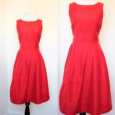 Vintage 1950s Red Silk Dress// '50s Fit and by AllForYouVintage #teamlove #vintage #fashion