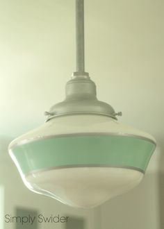 Schoolhouse pendant light for kitchen island