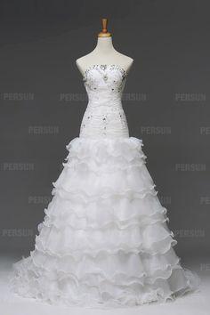 #Balze di #Loto Strati a Torta #Abiti Da #Sposa #Sexy - Persunit.com