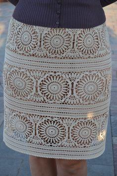 Crochet Summer Dresses, Crochet Skirts, Crochet Clothes, Modern Crochet, Diy Crochet, Crochet Top, Irish Crochet Patterns, Crochet Skirt Pattern, Diy Crafts Knitting