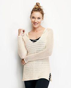 Pointelle Sweater Hoodie from #HannaAndersson.