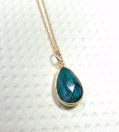Emerald Stone Pendant Necklace Gemstone by TrudyAnnDesigns on Etsy