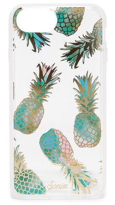 Get this Sonix's cover now! Click for more details. Worldwide shipping. Sonix Liana iPhone 7 Case: This transparent, hardshell Sonix iPhone case is patterned in metallic pineapples. Formfitting construction with button, cord, and camera cutouts. Fits iPhone 7. Imported, China. (funda, móvil, movil, carcasa, funda, carcasas, corners, case, handyhülle, funda, housse, astuccio, fundas)