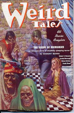 Virgil Finlay - cover for Weird Tales February 1937